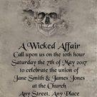 Free Gift Bag Skull Gothic Halloween Wedding Invitations | Etsy
