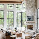 Modernes Seehaus: Wohnzimmerführung