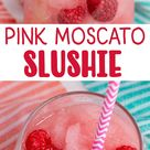 Pink Moscato Wine Slushie - The Ultimate Summer Frozen Drink