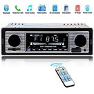 Car Stereo for Bluetooth, Single Din, 60Wx4 Hands-Free Calling FM Radio Receiver, USB/SD/AUX Port, Support MP3/WMA/WAV, Dual Knob Audio Car Radio Player, Built-in Microphone, Wireless Remote Control - Default