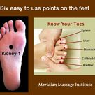 Activate all 6 Meridians with theses toe acupoints!