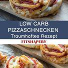 Low Carb Pizzaschnecken - Eiweißreiches Rezept zum Abnehmen