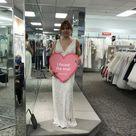 Beaded Matte Sequin V-Neck Sheath Dress | David's Bridal