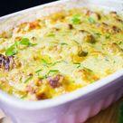 Schneller low carb Kohlrabi-Curry-Hähnchen-Auflauf