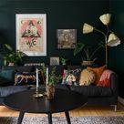 Papier-peint exotique et couleurs fortes pour un petit appartement suédois - PLANETE DECO a homes world