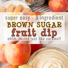 Easy Fruit Dip 3 Ingredients.. Tastes like Caramel   Cooking With Karli
