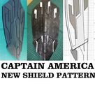 New Captain America Shield Cosplay Pattern Printable Template Prop Black Panther Cap Infinity War Shield  Movie Inspired