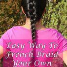 Braiding Your Own Hair