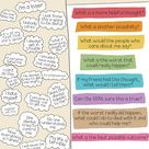Free Download Challenge Automatic Negative Thoughts  Poster Teachers, Parents Can Use with Kiddos