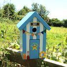 Personalised Beach Hut Bird Box