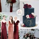 Autumn Wedding in Burgundy, Deep Red, Navy and Terracotta with Blush Accents