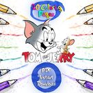 20 Coloring Pages, Tom and Jerry Coloring Pages, Kids Coloring Book, Instant Download, PDF, Children Fun Paint, A4 Page Download