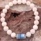 Faceted Moonstone Jade • Blue Lace Agate •...