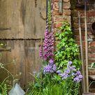 Farm flower garden and barn | Plant & Flower Stock Photography: GardenPhotos.com
