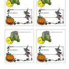 Malvorlagen - Ausmalbilder Tischkarten Halloween | Vorlagen für Tischkarten zum kostenlos ausdrucken