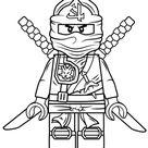 Lego Ninjago Groene Ninja kleurplaat | Gratis Kleurplaten printen
