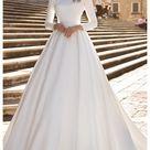 long sleeve prom dress modest wedding gowns