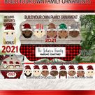 Multicultural Elf Family 2021 Christmas Ornament Sublimation