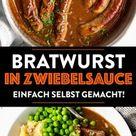 Bratwurst mit Zwiebelsauce: Bangers and Mash einfach Selbst Gemacht!