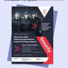 Security Guard Services Invitation Template [Free PDF] - Word | PSD | InDesign | Apple Pages | Illustrator | Publisher