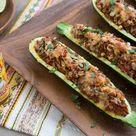 Taco Stuffed Zucchini
