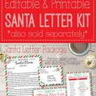 Personalized Santa Letter Kit Printable, Santa's Nice List Certificate, Letter from Santa Claus Digital PDF Template North Pole Reusable Red