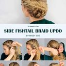 Hair How To Romantic Side Fishtail Braid Upstyle