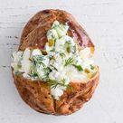 Scandi cheese baked potato