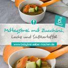 Rezept für Babybrei mit Lachs Süßkartoffeln und Zucchini – Babybrei selber machen