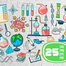 Doodle chemistry elements svgchemistry svg chemistry bundle   Etsy