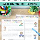 Kindergarten Parent Handouts for Learning at Home - Great for Virtual Learning