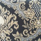 CLEARANCE Black Gold Outdoor Pillow Cover Damask Ikat Modern Patio Porch Cushion Decorative Throw Accent Pillow Modern Abstract