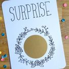 Customizable scratch card / For happy events / Pregnancy announcement / Wedding announcement / Origi