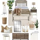 Casual Modern Rustic Bedroom - Neutral - Wood Tones - Warm Cozy Textures - Sandringham Interiors