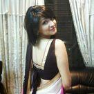 Beautiful Girl in Black Saree