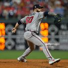 Dallas Keuchel of the Atlanta Braves in action against the...