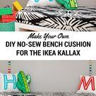 IKEA Kallax Cushion Hack: Turn Your Shelf into a Bench with an Easy DIY No-Sew Cushion