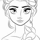 Free Online Elsa Coloring Pages
