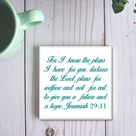 Make Your Own Bible Verse Coaster With Any Scripture For Christian Catholic Friends,Baptism Bible Quotes Priest Gift,Personalized Coaster