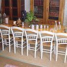 Tres belle et grande table ancienne de ferme avec plateau en sapin  naturel