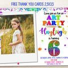 Art party birthday invitation Photo Artsy party invitation   Etsy