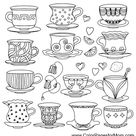 Coloring pages for adults - coffee coloring page 37