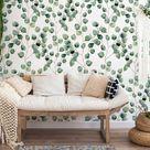 Eucalyptus Wallpaper Mural || Wall Décor Decal || Easy install || Removable Wallpaper • Vinyl-Free •  Non-toxic