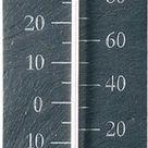 Binnen/buiten thermometer van leisteen 45 cm - Buitenthermometers - Klassieke...   bol.com