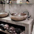 Lavabi in pietra per il bagno   Fillyourhomewithlove