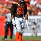 Cleveland Browns defensive lineman Myles Garrett during the second...