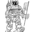 Kleurplaat astronaut. Gratis kleurplaten om te printen