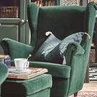 STRANDMON Tallmyra dark green, Wing chair   IKEA