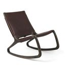 Rocker Chair by Shawn Place for Mater   Sirka Grey Stain Oak   Harness Mustang Full Grain Leather