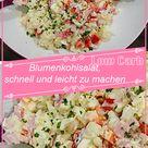 Blumenkohlsalat, schnell und leicht zu machen